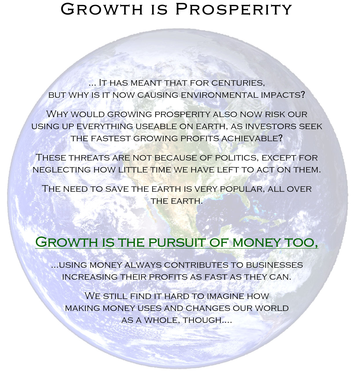Prosperity is Growth