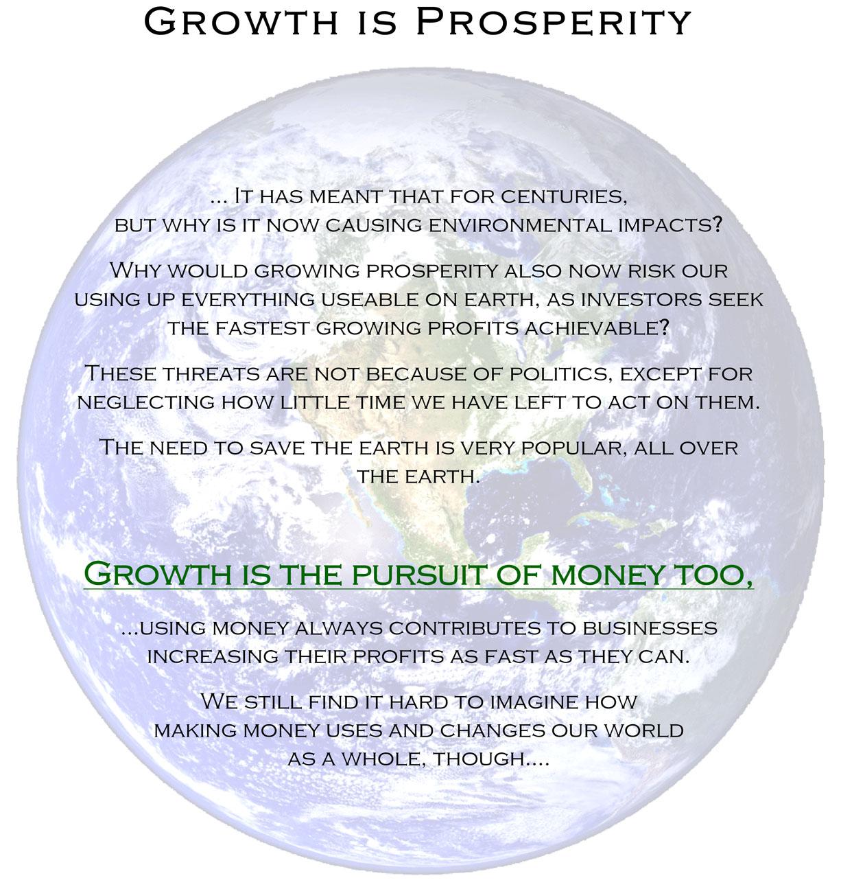 Prosperity is Growth